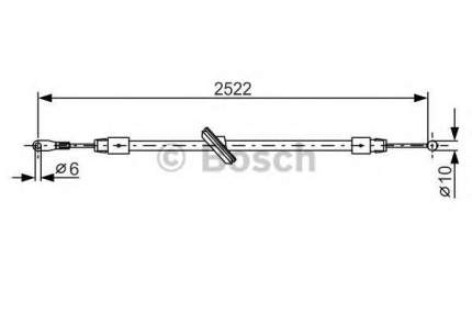 Трос cтояночного тормоза Bosch 1987482029