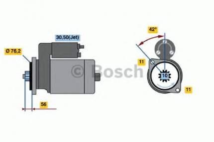Стартер Bosch 0986016980