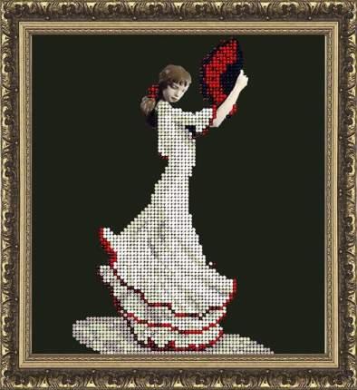 Набор для вышивания ювелирным бисером Краса и творчество 40614 Танец страсти 14,8х16,2 см