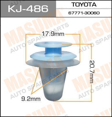 Клипса автомобильная Masuma KJ486