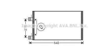 Радиатор кондиционера Ava RTA5444