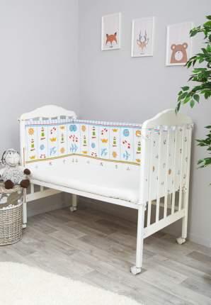 Текстильный бортик для кроватки Сонный Гномик Маяк 133
