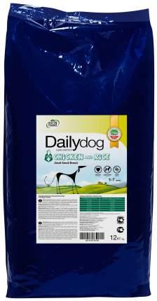 Сухой корм для собак Dailydog Adult Small Breed, для мелких пород, курица и рис, 12кг