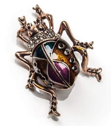 Брошь Moon Paris многоцветный жук со стразами (бронзовый)