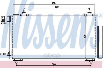Радиатор кондиционера Nissens 94740
