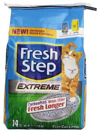 Впитывающий наполнитель туалета для кошек Fresh step Extreme Clay 6,35 кг