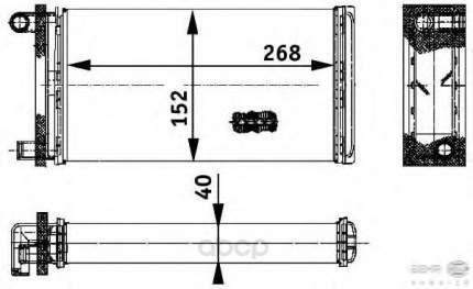 Теплообменник, отопление салона легковой автомобиль Hella 8FH351312-391