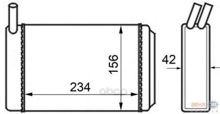 Радиатор отопителя HELLA 8FH351024211