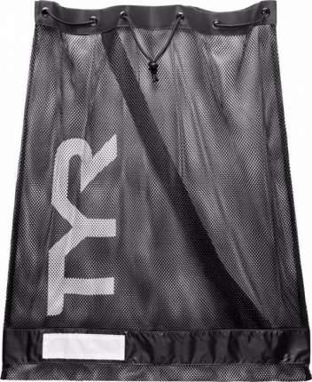Сумка-сетка для бассейна TYR Alliance Mesh Equipment Bag черная (001)