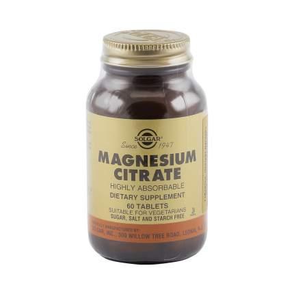Цитрат магния таблетки 200 мг 60 шт. Solgar