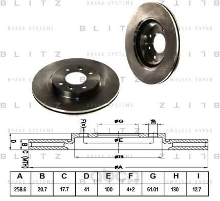 Тормозной диск BLITZ BS0105