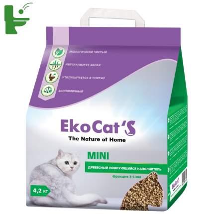Комкующийся наполнитель Eko Cat's Mini древесный, 4.2 кг, 10 л