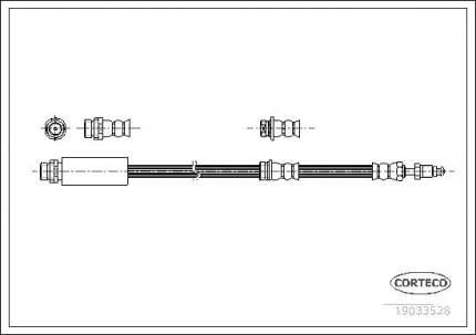 Шланг тормозной системы CORTECO 19033528