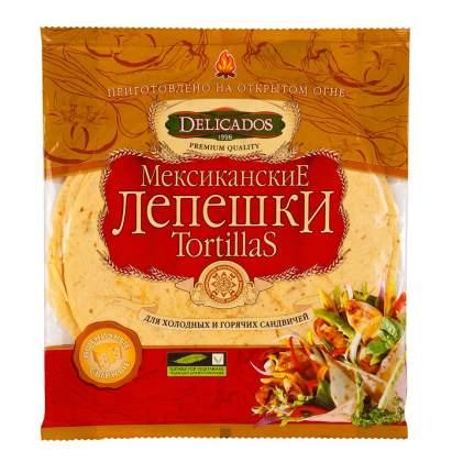 Лепешки Delicados tortillas пшеничные томатные 6 штук 400 г
