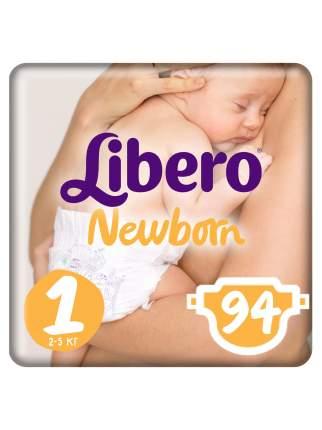 Подгузники для новорожденных Libero Newborn Size 1 (2-5 кг), 94 шт.
