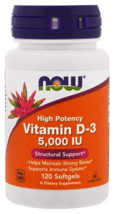 Витамин D NOW Vitamin D-3 5000 Me 120 капс.