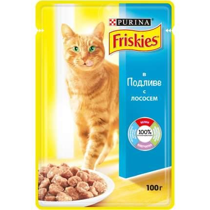 Влажный корм для кошек Friskies, с лососем в подливе, 100г