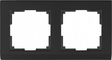 Рамка для выключателя Werkel WL04-Frame-02-black a029215 черный