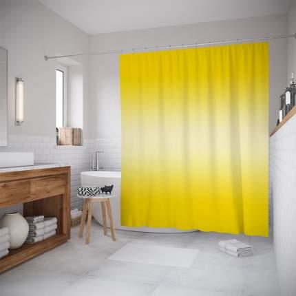Шторы для ванной JoyArty «Желтый переход» 180x200