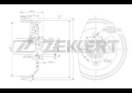 Тормозной барабан ZEKKERT BS-5079