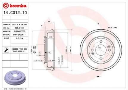 Тормозной барабан BREMBO 14.C012.10
