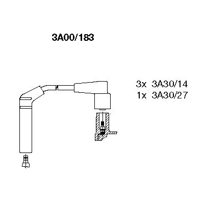Комплект проводов зажигания BREMI 3A00/183