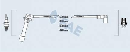 Комплект проводов зажигания FAE 83641