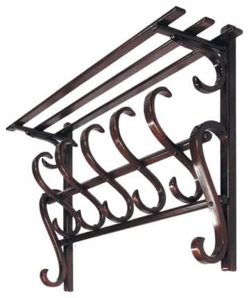 Вешалка настенная Мебелик В 7Н Темно-коричневый 925