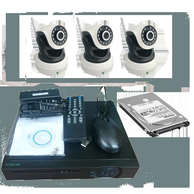 "Комплект видеонаблюдения ""Zodiak Combo 3 Wi-Fi Home Storage"""
