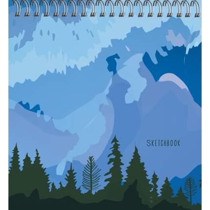 Скетчбук спираль (165х165мм 50л 100г/м2) Туманные горы,ТС504751