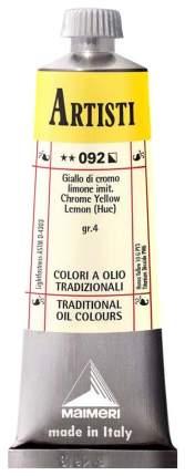 Масляная краска Maimeri Artisti хром желто-лимонный имитация 40 мл