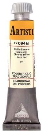 Масляная краска Maimeri Artisti M0102094 хром желто-оранжевый темный 20 мл