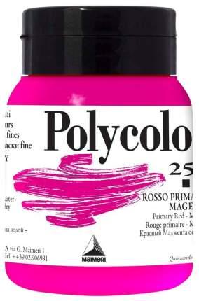 Акриловая краска Maimeri Polycolor 256 основной красный маджента 500 мл