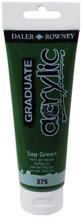 Акриловая краска Daler Rowney Graduate зеленый травяной 120 мл