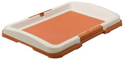 Туалет для собак V.I.Pet японский стиль, малый, коричневый, 48х35х6 см