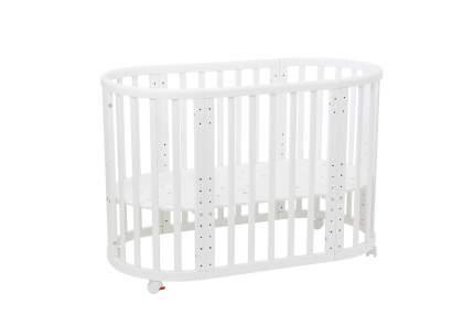Круглая/овальная кроватка Polini Kids Simple 911 белая
