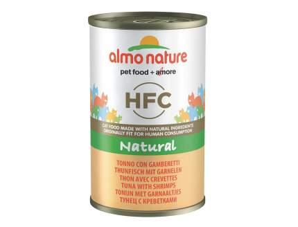 Консервы для кошек Almo Nature HFC Natural, креветки, тунец, 24шт, 140г