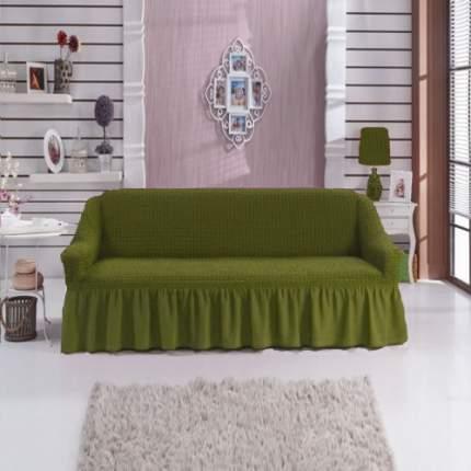комплект чехлов Karbeltex Стандарт на 3-местный диван, зеленый