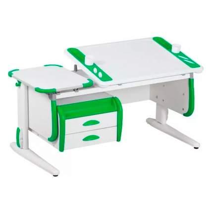 Растущая парта для школьника для дома Дэми Techno СУТ 31-03 с белый, зеленый, белый,