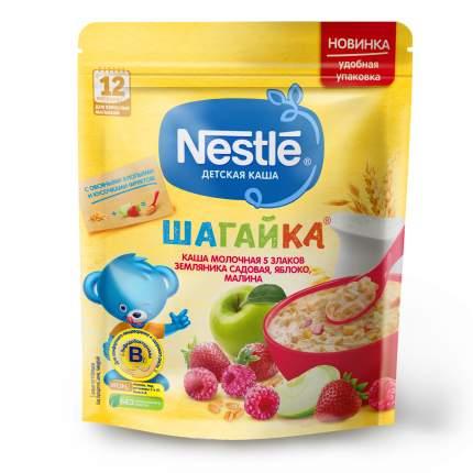 Каша молочная Nestlé ШАГАЙКА 5 злаков земляника садовая,яблоко,малина(с 12 мес.),200гр
