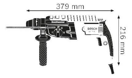 Сетевой перфоратор Bosch GBH 2-28 DV 611267101