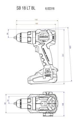 Аккумуляторная дрель-шуруповерт Metabo SB18LTBL 602316890 БЕЗ АККУМУЛЯТОРА И З/У