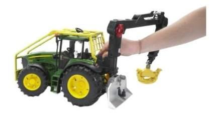 Трактор Bruder John deere 7930 лесной с манипулятором
