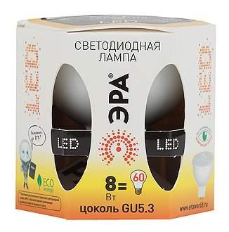 Лампочка ЭРА MR16-8w-827-GU5.3