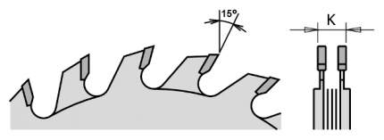 Диск пильный 125x20x2,8-3,6/ 12° FLAT Z=12+12 289.125.24H