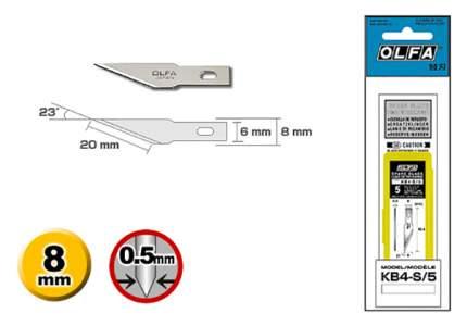 Сменное лезвие для строительного ножа OLFA OL-KB4-S/5