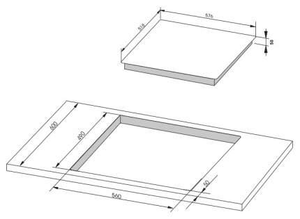 Встраиваемая варочная панель индукционная Hansa BHIW68308 White