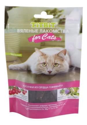 Лакомство для кошек TITBIT Вяленые Кусочки из говяжьего сердца, 50г