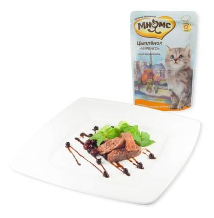 Влажный корм для котят Мнямс Цыпленок Маренго, цыпленок, 85г