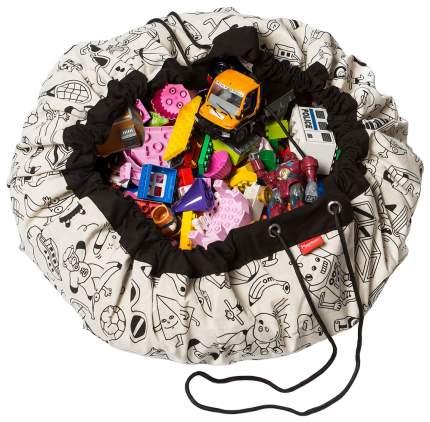 """Мешок для хранения игрушек и игровой коврик 2 в 1 Play&Go """"Designer Раскрась меня"""""""